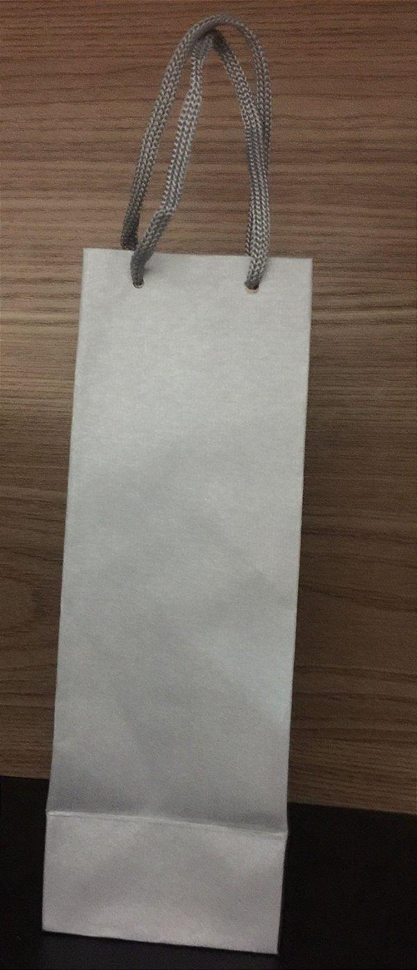 Sacola papel Prata 23x08x7,5 mini garrafa 10 unids