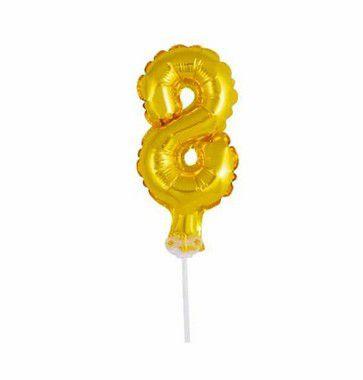 Balão Metalizado Topper Bolo nº8 unid