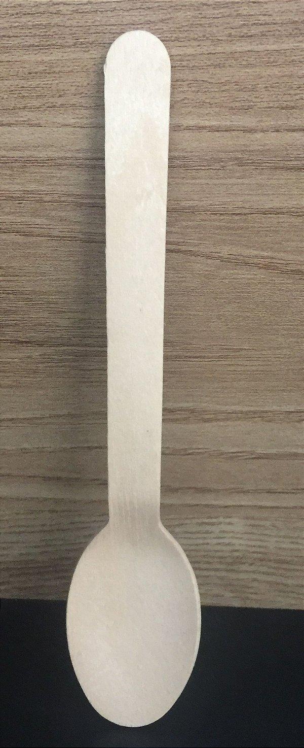 Colher Refeição 16cm Madeira 50unids