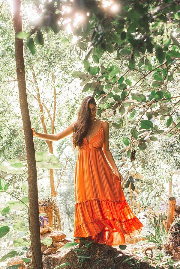 Vestido Fluido Costas Amarracao