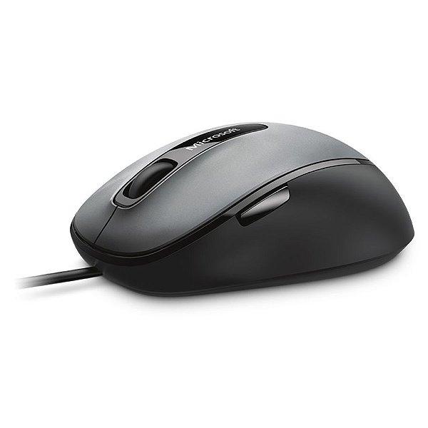 Mouse Com Fio USB Microsoft Comfort 4500 Bluetrack C/ 5 Botões