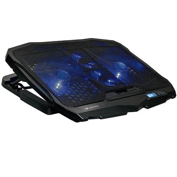 "Base Gamer P/ Notebook Até 17,3"" C3tech NBC-100  C/ 4 Fan Cooler LED Azul"