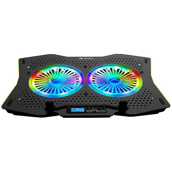 """Base Gamer RGB Para Notebook Até 17,3"""" USB C3Tech NBC-400"""