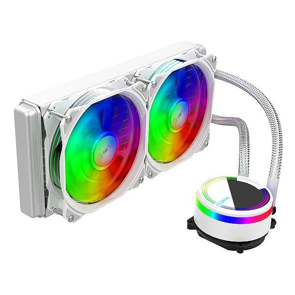 Water Cooler RGB Alseye M240 Max Series Dual Fan Branco