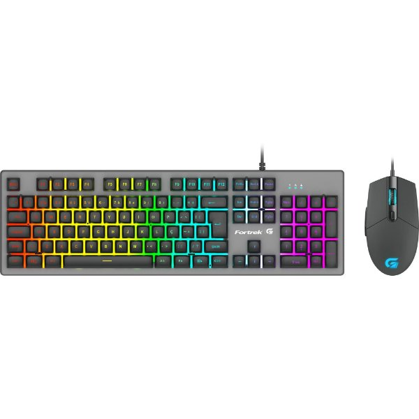 Kit Teclado e Mouse RGB Rainbow Fortrek G Ranger ABNT2