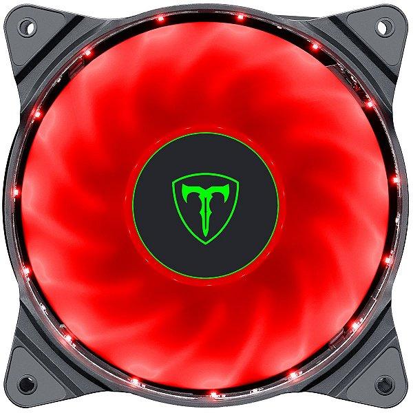 Fan Cooler T-Dagger TGF300 LED Vermelho Conector 3 Pinos + Molex