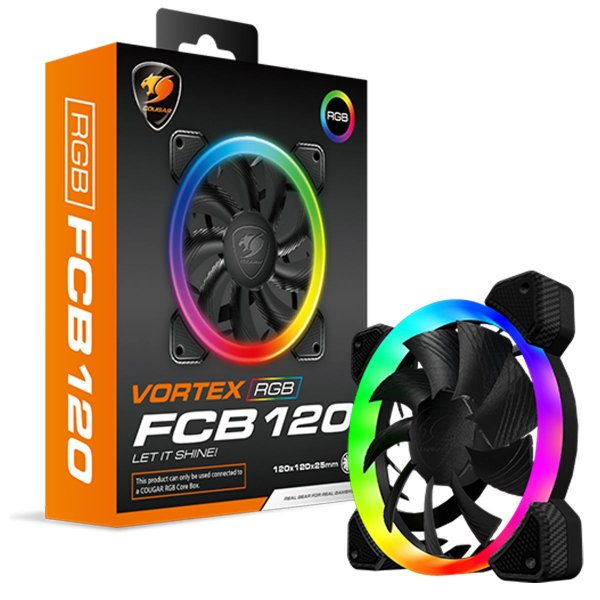 Kit 3 Un. Fan Cooler Cougar Vortex RGB FCB 120