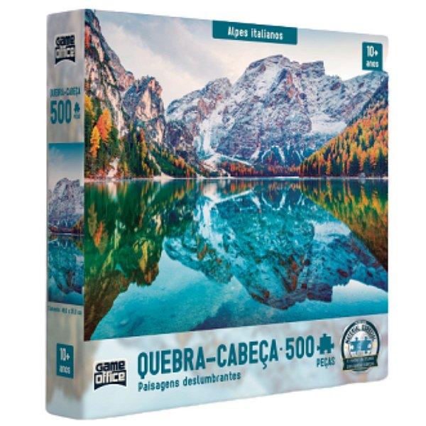 Quebra Cabeça 500 Peças - Paisagens Deslumbrantes - Alpes Italianos