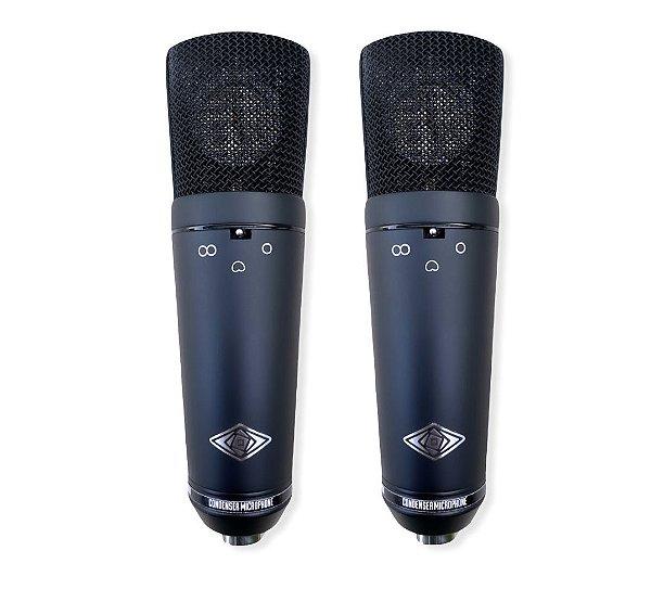 GB1702  (Par Casado / Matched Pair) -  Microfones Condensadores (Multi Padrão Polar)