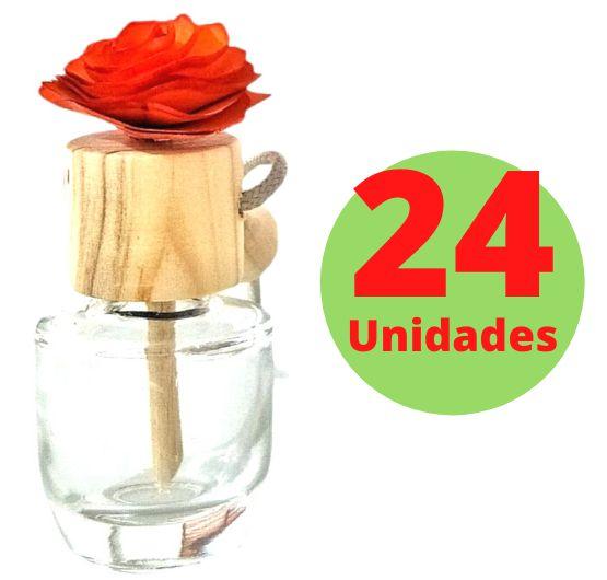 Difusor Veicular 10ml - 24 unidades com 15 cores de flores