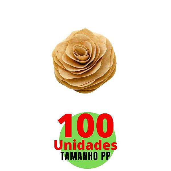 KIt com Flores em Madeira Tamanho PP  6cm - 100 unidades