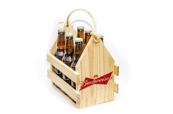 Engradado Pinus para Bebidas - Budweiser