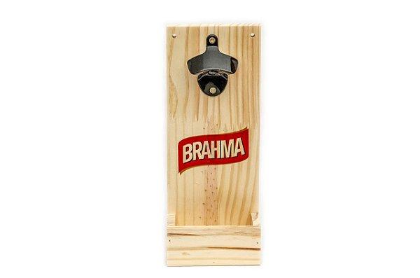 Abridor de Garrafas para Parede em Pinus - Brahma