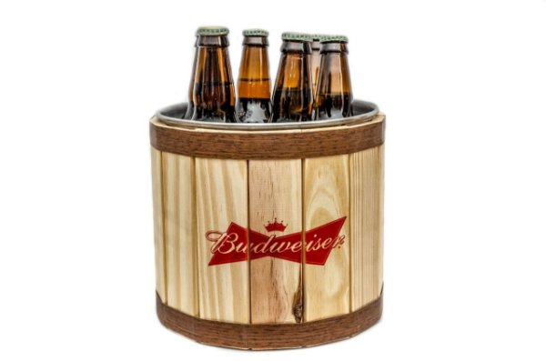 Balde de Gelo Alumínio / Pinus - Budweiser