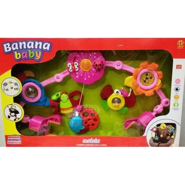 Mobile Para Carrinho De Bebê - Banana Toys