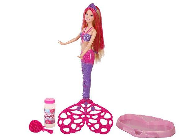 Barbie Sereia Bolhas Mágicas - Mattel