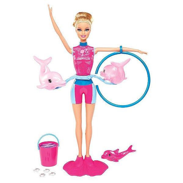 Boneca Barbie Mattel Quero ser Treinadora de Golfinhos - Mattel