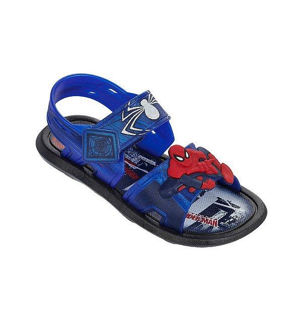 Sandália Infantil Grendene Homem Aranha 21413-20798 - Preto/Azul