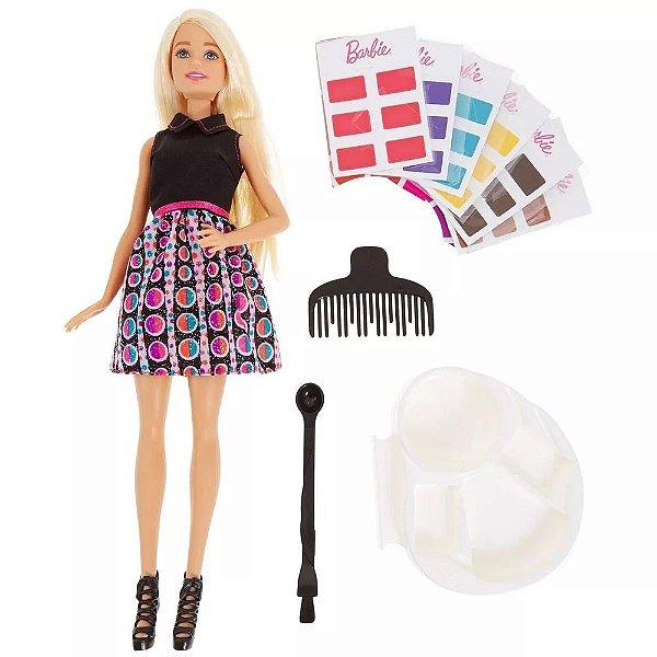Boneca Barbie Mix 'n Color Salão De Cores Mattel Dhl90