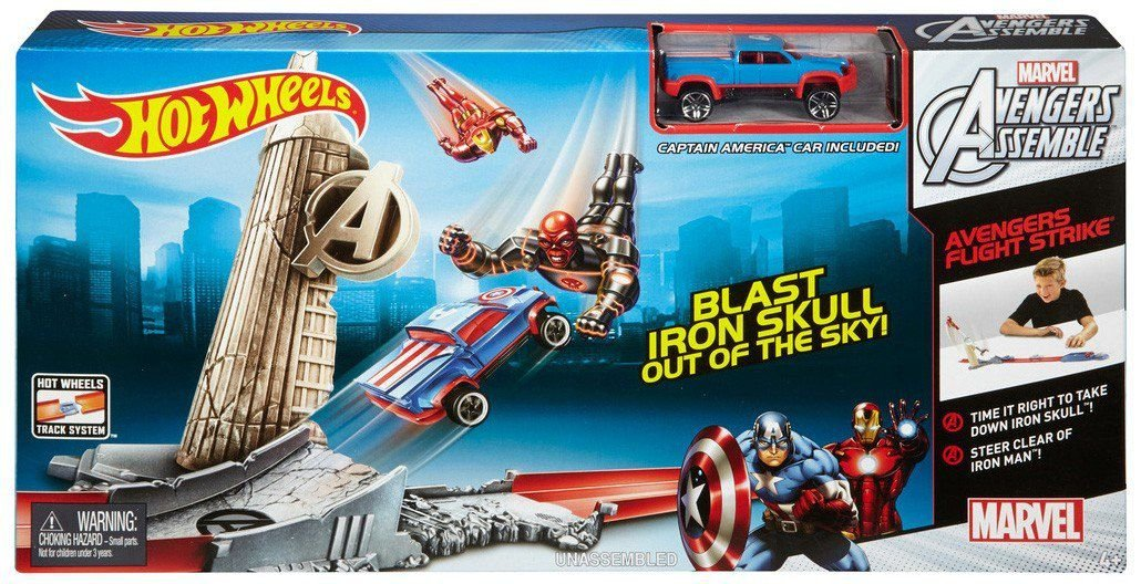 Pista Hot Wheels Ataque dos Vingadores Capitão América - Mattel