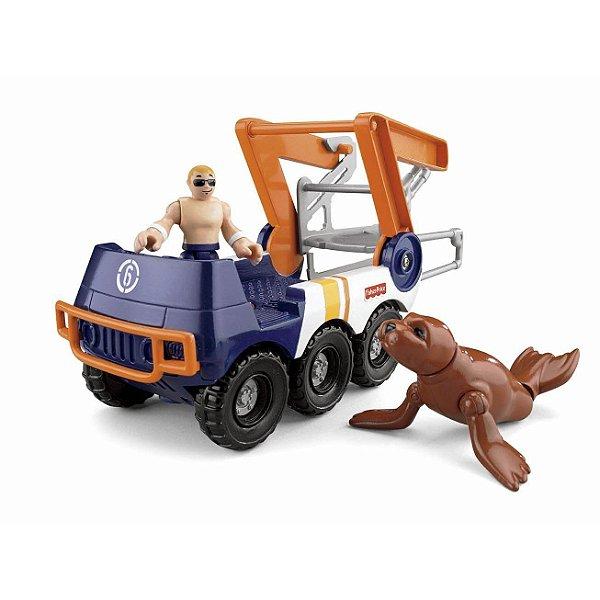 Imaginext Coleção Aquático Médio - Carro Anfíbio - Mattel