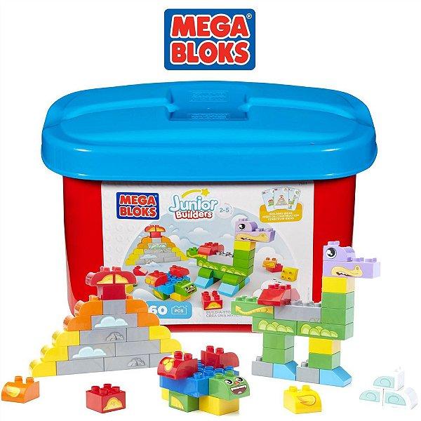 Mega Bloks Balde Junior Builders 60 Peças - Fischer Price