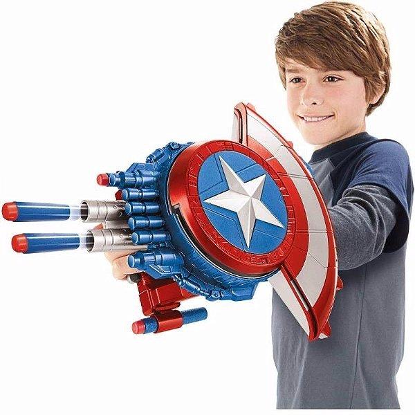 Escudo Capitão América Guerra Civil com Lançador de dardos Nerf - Hasbro