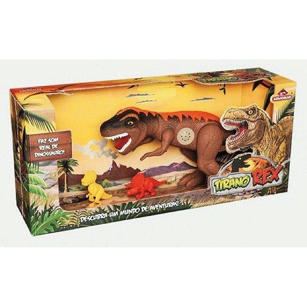 Dinossauro Tirano Rex Com Som 43cm - Adijomar