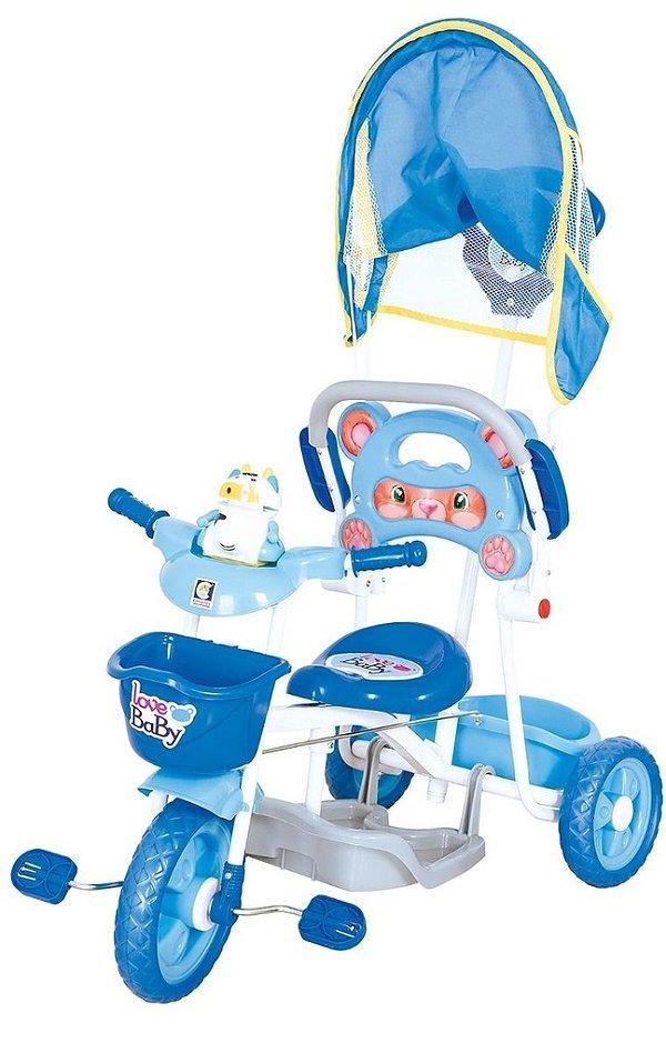 Triciclo Love Baby Azul C/ Som e Música - Cotiplás