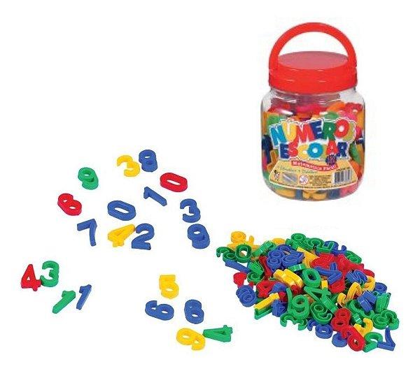 Pote Escolar De Números 150 Peças - Brinquedos Educativos