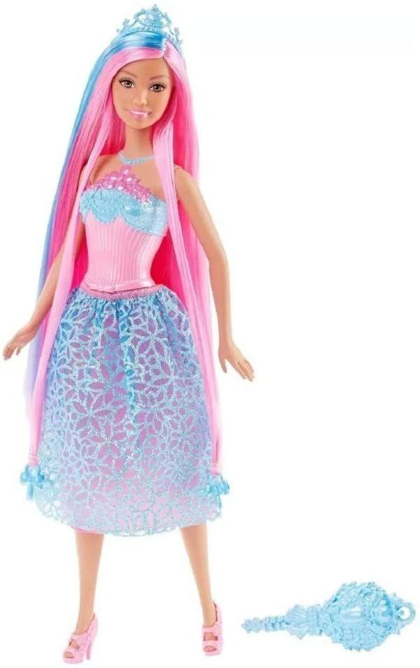 Boneca Barbie Princesa Cabelo Longo Rosa - Mattel