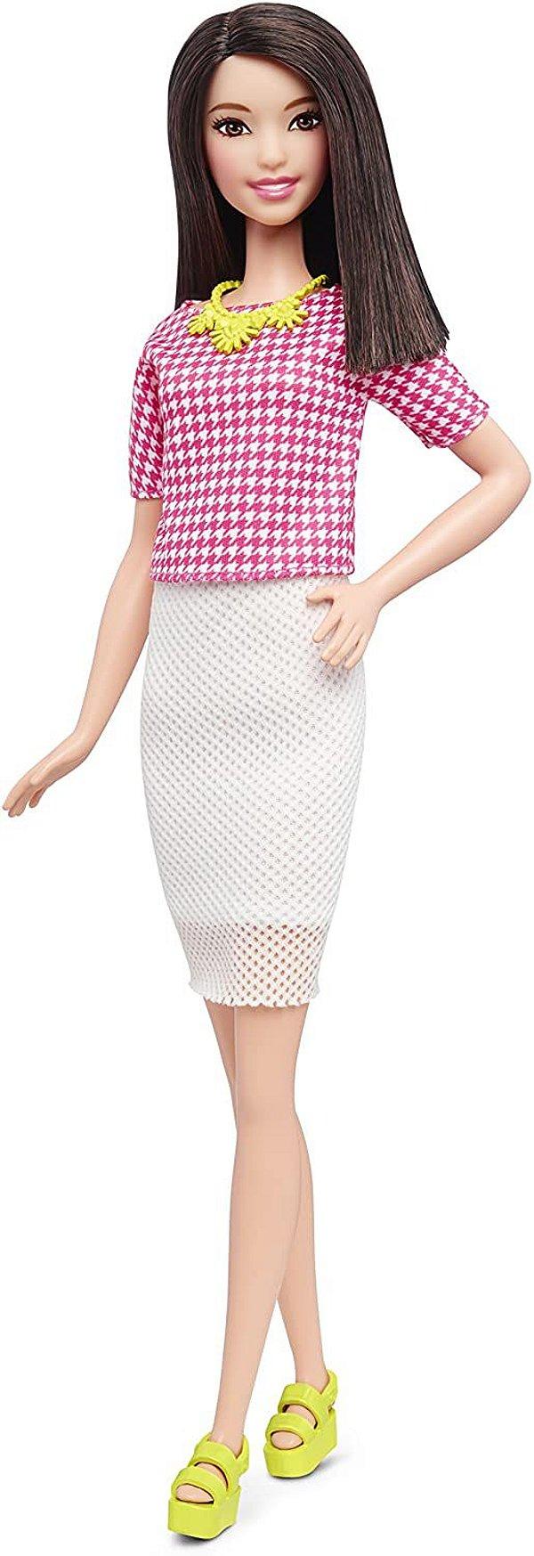 Boneca Barbie Fashionista Branco & Rosa Pizzazz - Mattel