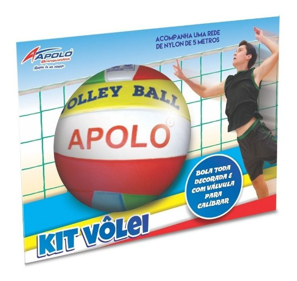 Kit Volley Ball - Bola e Rede - Apolo