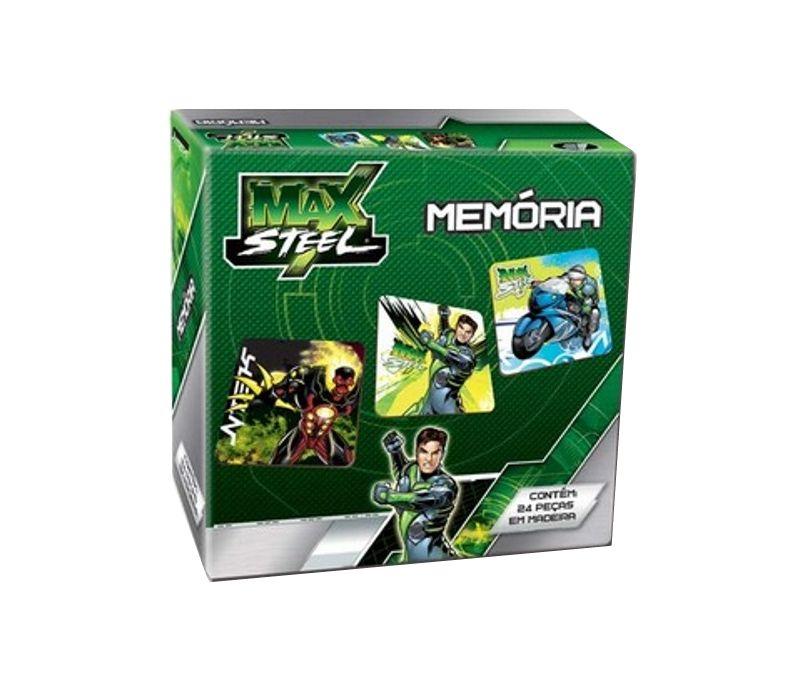 Jogo da Memória Max Steel Madeira - Barão Toys