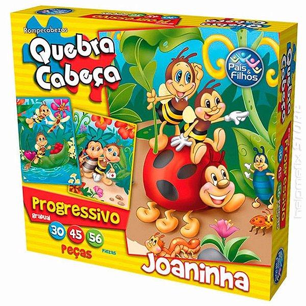 Quebra Cabeça Progressivo Joaninha - Pais & Filhos
