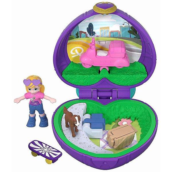 Boneca Polly Pocket Mini Piquenique Com Cachorrinho - Mattel