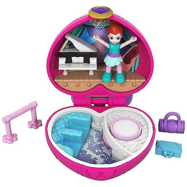 Boneca Polly Pocket Mini Estojo Ballet Sashay -  Mattel