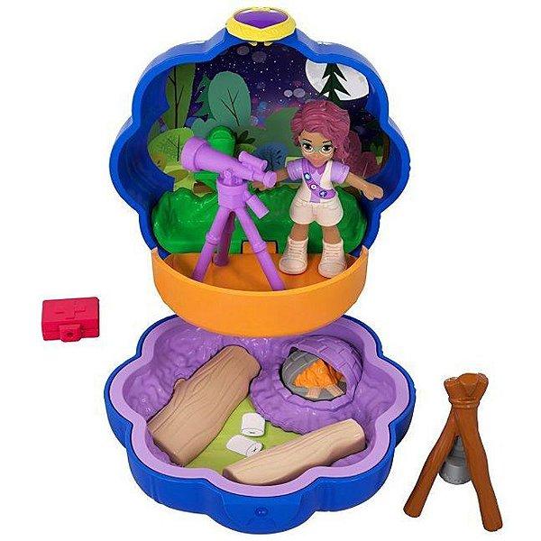 Boneca Polly Pocket Mini Acampamento - Mattel