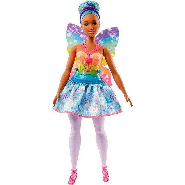 Boneca Barbie Fada Dreamtopia Cabelo Azul - Mattel