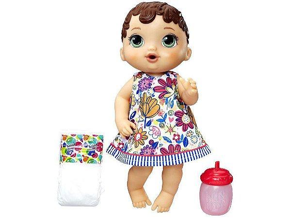 Boneca Baby Alive Hora do Xixi Morena com Acessórios - Hasbro