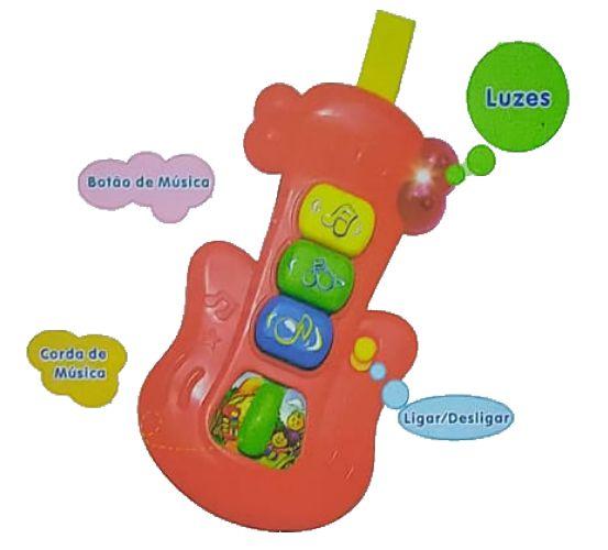 Guitarra do bebê Musical - Polibrinq