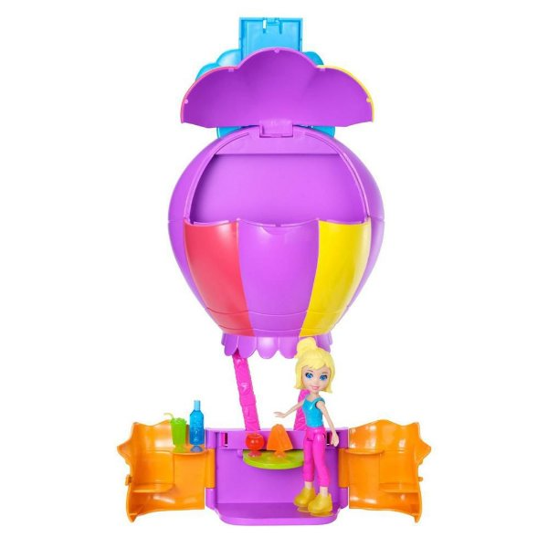 Polly Pocket Wall Party Aventura nas Nuvens Voo de Balão - Mattel