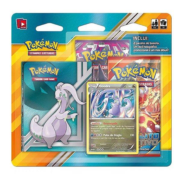 Jogo Pokémon Goodra Blister 2 Deck e Mini Álbum Colecionador - Copag