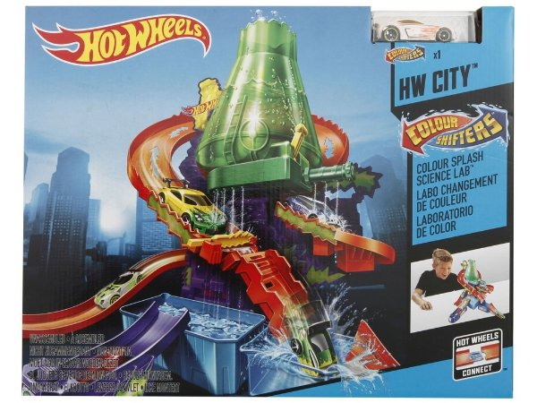 Pista Hot Wheels Estação Cientifica Colour Shifters - Mattel