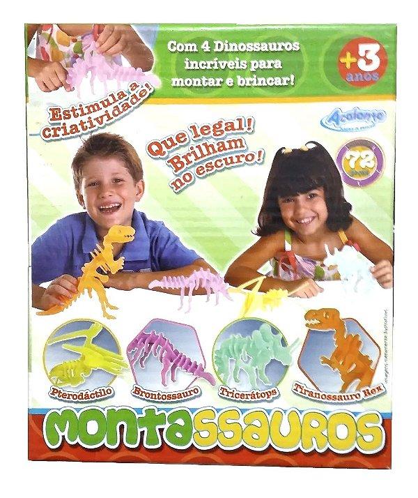 Montassauro Esqueletos De Dinossauro Brilham No Escuro