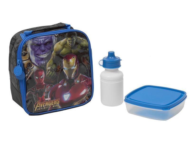 Lancheira Infantil Escolar Marvel Vingadores - Xeryus