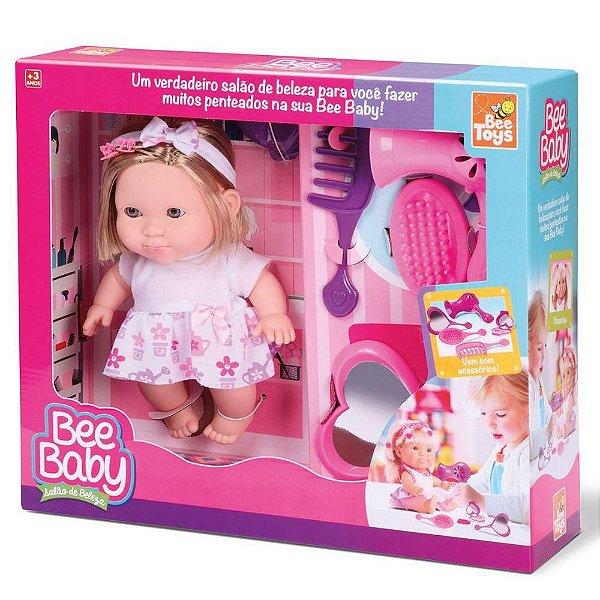 Boneca Bee Baby Salão De Beleza C/ Acessórios - Bee Toys