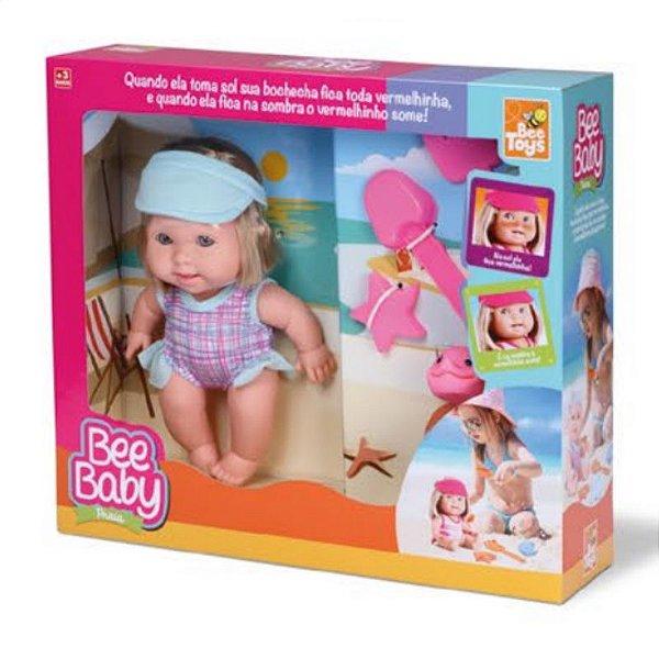 Boneca Bee Baby Praia C/ Cabelo - Bee Toys