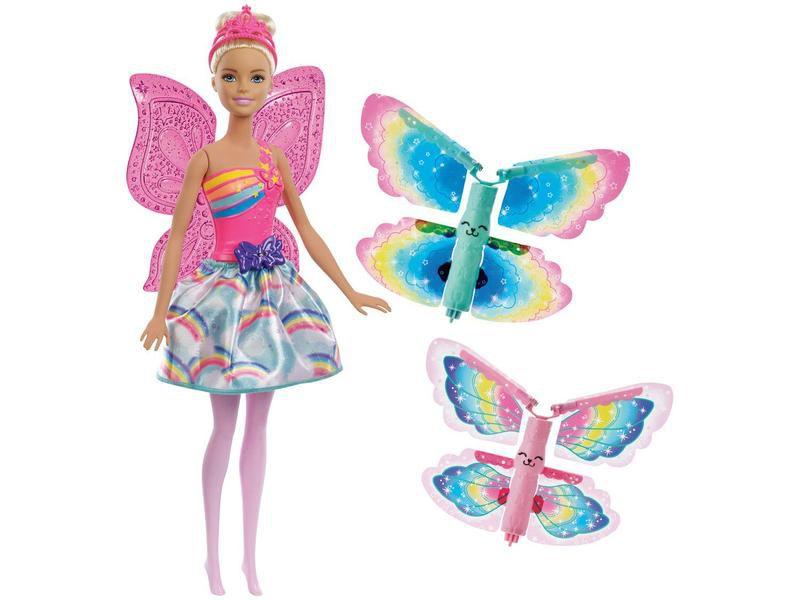 Boneca Barbie Dreamtopia Asas Voadoras Fada - Mattel
