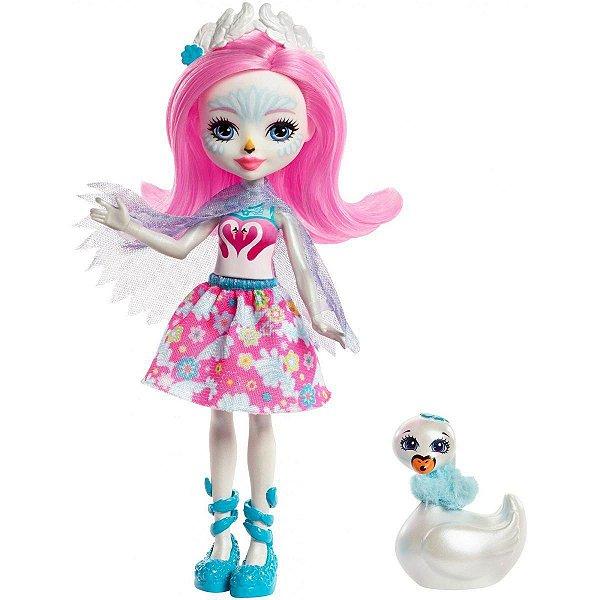 Boneca Enchantimals Saffi Swan e Poise - Mattel